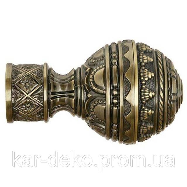 фото наконечника на карниз для штор античная Гоа kar-deko.com