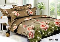 Евро комплект постельного белья 200*220 из полисатина Царица цветов