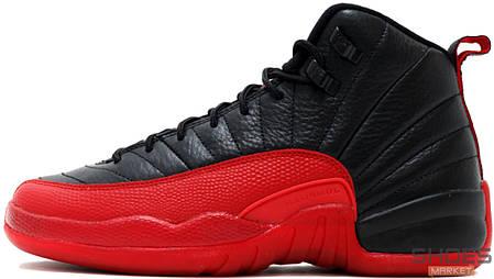Мужские кроссовки Nike Air Jordan Retro 12 Black/Red, фото 2