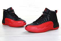 Мужские кроссовки Nike Air Jordan Retro 12 Black/Red, фото 3