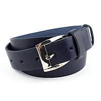 Женский кожаный ремень М-03 (синий) (2,9 см)