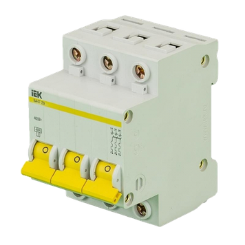 Автоматический выключатель IEK ВА 47-29 3п 16А 4.5кА хар С