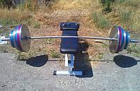 Гриф олимпийский оцинкованный, рессорно-пружинная сталь, фото 1