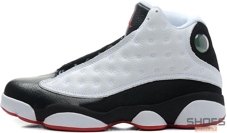 Мужские кроссовки Nike Air Jordan 13 Retro White/Black, Найк Аир Джордан 13