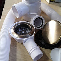 Сифон для ванны автомат бронза HC2600CLAB..., фото 1