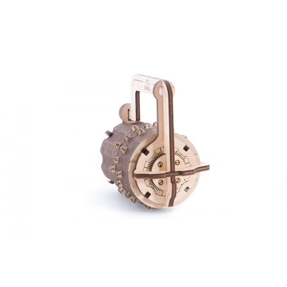 Механический кодовый замок Ukr-Gears (UGEARS), механический 3d пазл, 34 детали