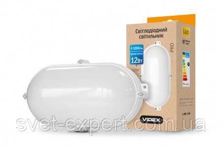 LED светильник (ЖКХ) овальный VIDEX 12W 5000K 220V белый, фото 2