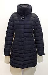 Удлиненная куртка женская черная CLASSic 1790
