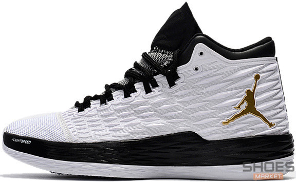 Мужские кроссовки Nike Air Jordan Melo M13  White/Black, Найк Аир Джордан 13