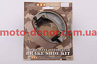 Колодки тормозные (барабан)   для мопеда Delta, Yamaha YB100   STAGE-9