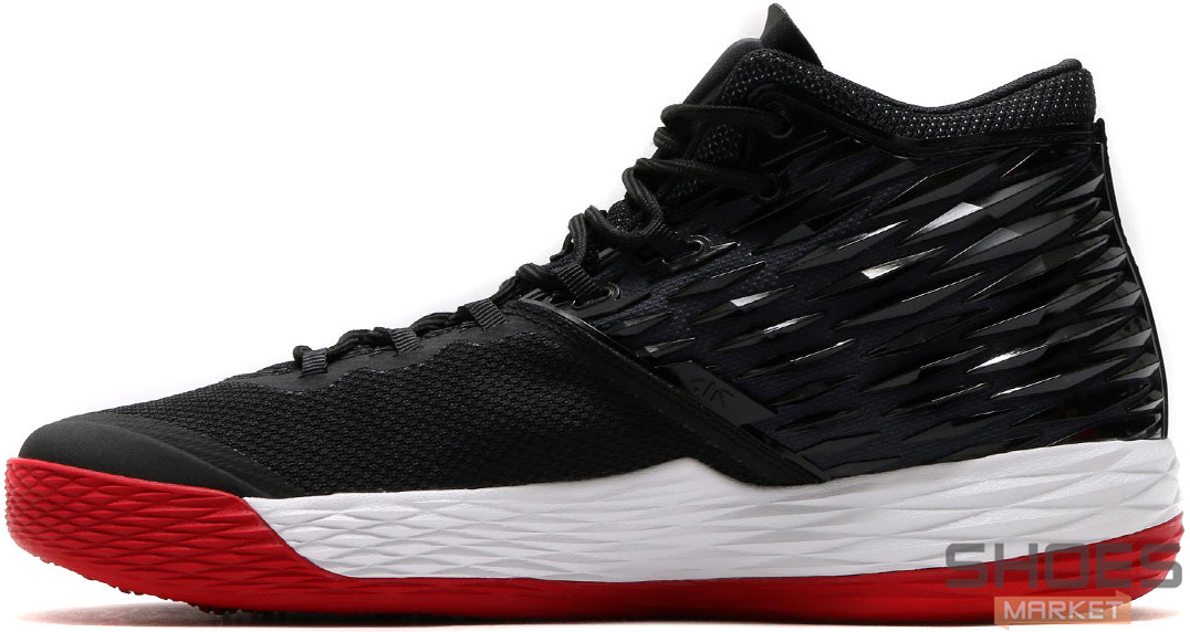 Мужские кроссовки Nike Air Jordan Melo M13 Black/White/Red, Найк Аир Джордан 13