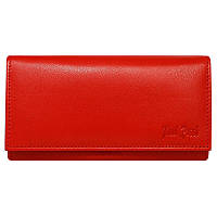 Женский кожаный кошелек Paul Rossi N20-GPS red