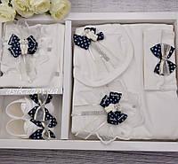 Крестильный набор с брошью мишки