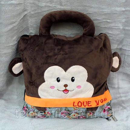 Плед - сумочка 3 в 1 (Обезьянка), фото 2