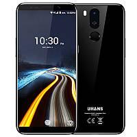 """Смартфон Uhans I8 Black 4/64Gb, Face id, 16+3/8Мп, 8 ядер, 2sim, 5.7"""" IPS, 3500mAh, 4G, Android 7.0, фото 1"""