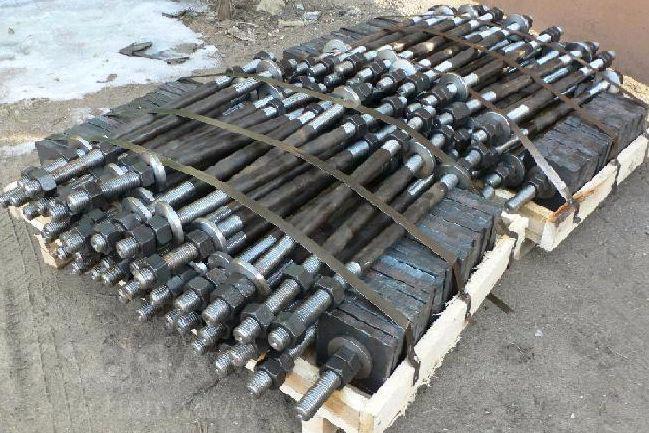 Болты фундаментные с анкерной плитой ГОСТ 24379 тип 2