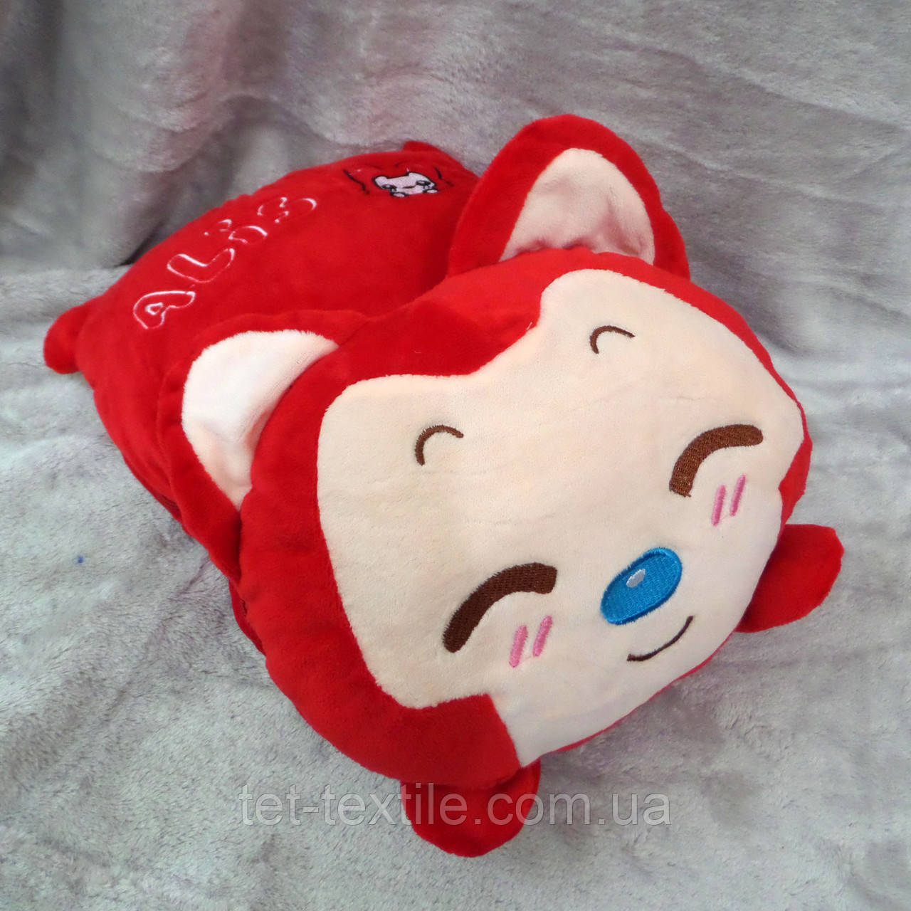 Плед - игрушка 3 в 1 (Котик красный)