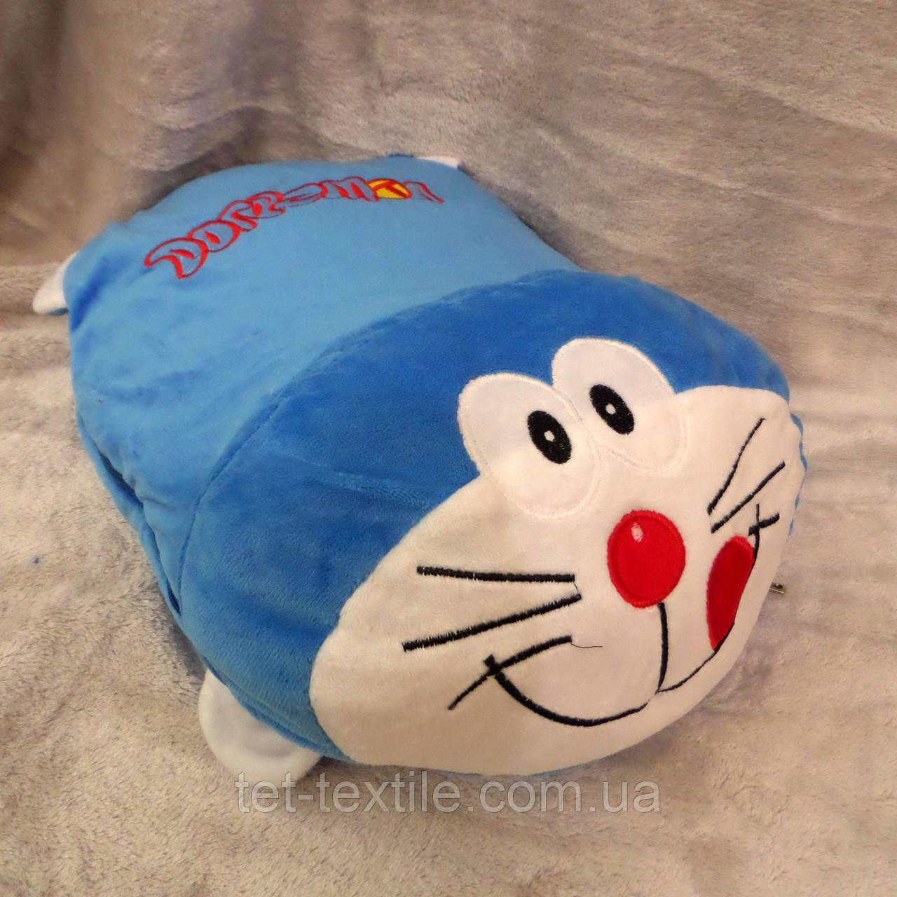 Плед - игрушка 3 в 1 (Котик синий)