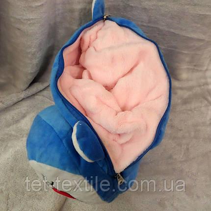 Плед - игрушка 3 в 1 (Котик синий), фото 2