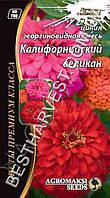 Семена цветов Циния «Калифорнийский великан» смесь 0.3 г