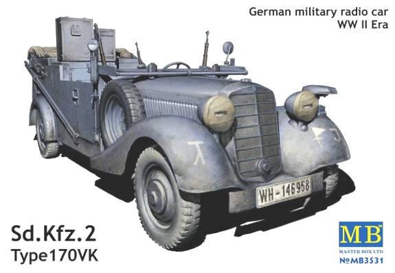 Sd.Kfz. 2 Type 170VK, German military radio car, WW II era. 1/35 MB3531, фото 2