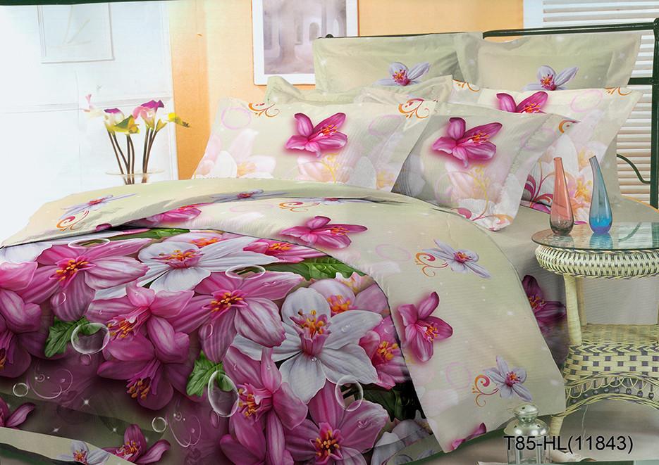 Полуторный комплект постельного 150х220 из полиэстера Флора