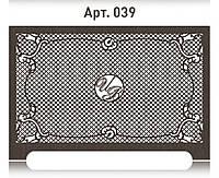 Ажурная решетка с логотипом на радиатор отопления из  МДФ (лазерная резка)