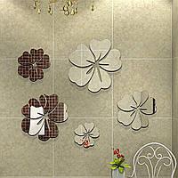 Декоративные цветы 3D акриловое зеркало, Дизайн и декор