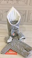 """Зимний Набор на выписку для новорожденного """"Зимняя сказка"""" (серый), фото 1"""