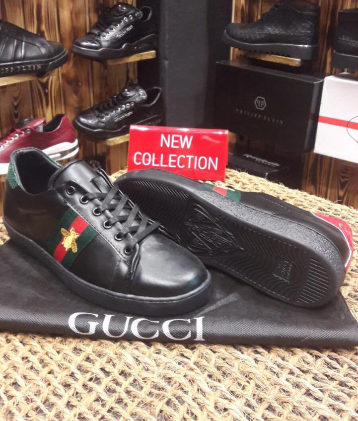 Кроссовки мужские GUCCI D2179 черные
