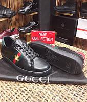 Кроссовки мужские GUCCI D2179 черные, фото 1