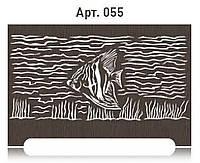 Оригинальная решетка с рисунком на радиатор отопления из  МДФ (лазерная резка)