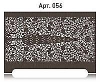 Резной экран с рисунком на радиатор отопления из  МДФ (лазерная резка)