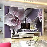 """3D фотообои """"Обворожительные орхидеи"""""""