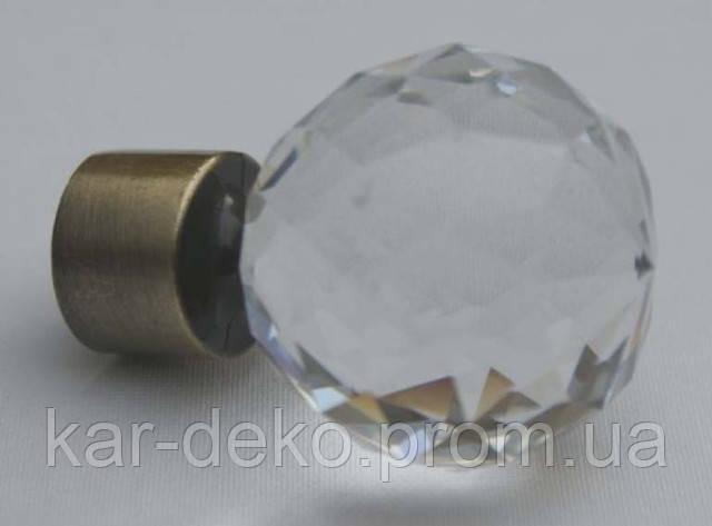 фото наконечник карниза кристалл куля бронза kar-deko.com