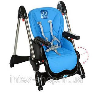 Детский стульчик для кормления Bambi (M 3216-4) СИНИЙ, фото 2