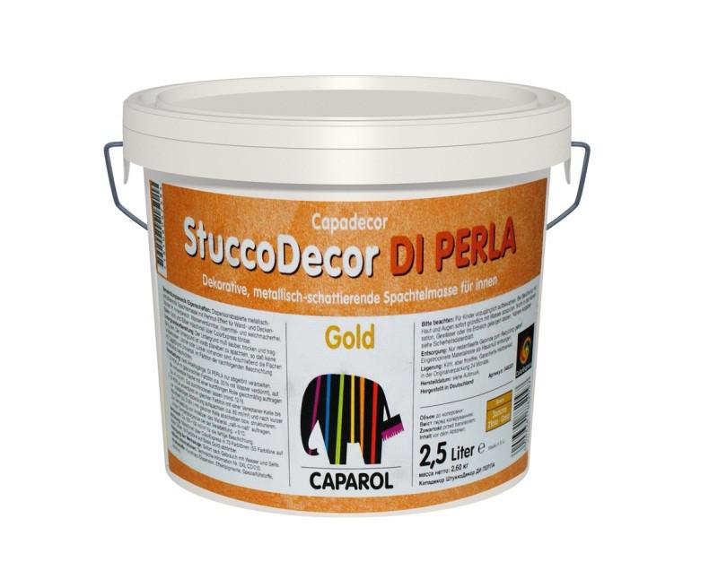 """Штукатурка """"отточенто"""" CAPADECOR STUCCO DI PERLA GOLD, 2,5л"""