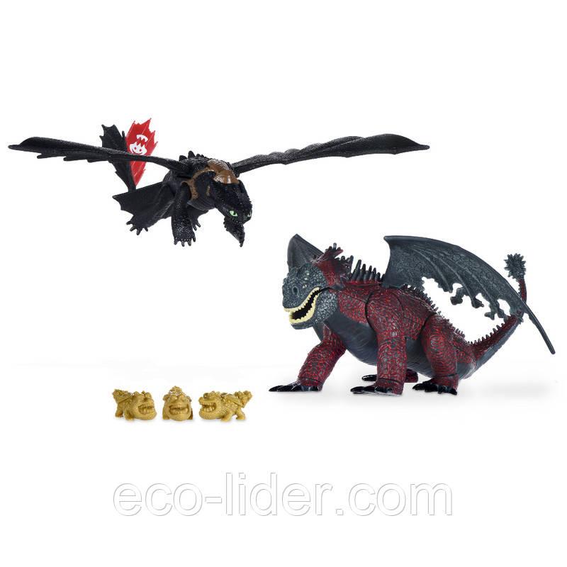 Как приручить дракона: набор из двух драконов «Битва Беззубика с красной смертью»