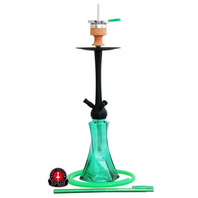 Кальян AMY Deluxe 600 Curl высота 72 см на 1 персону зеленый