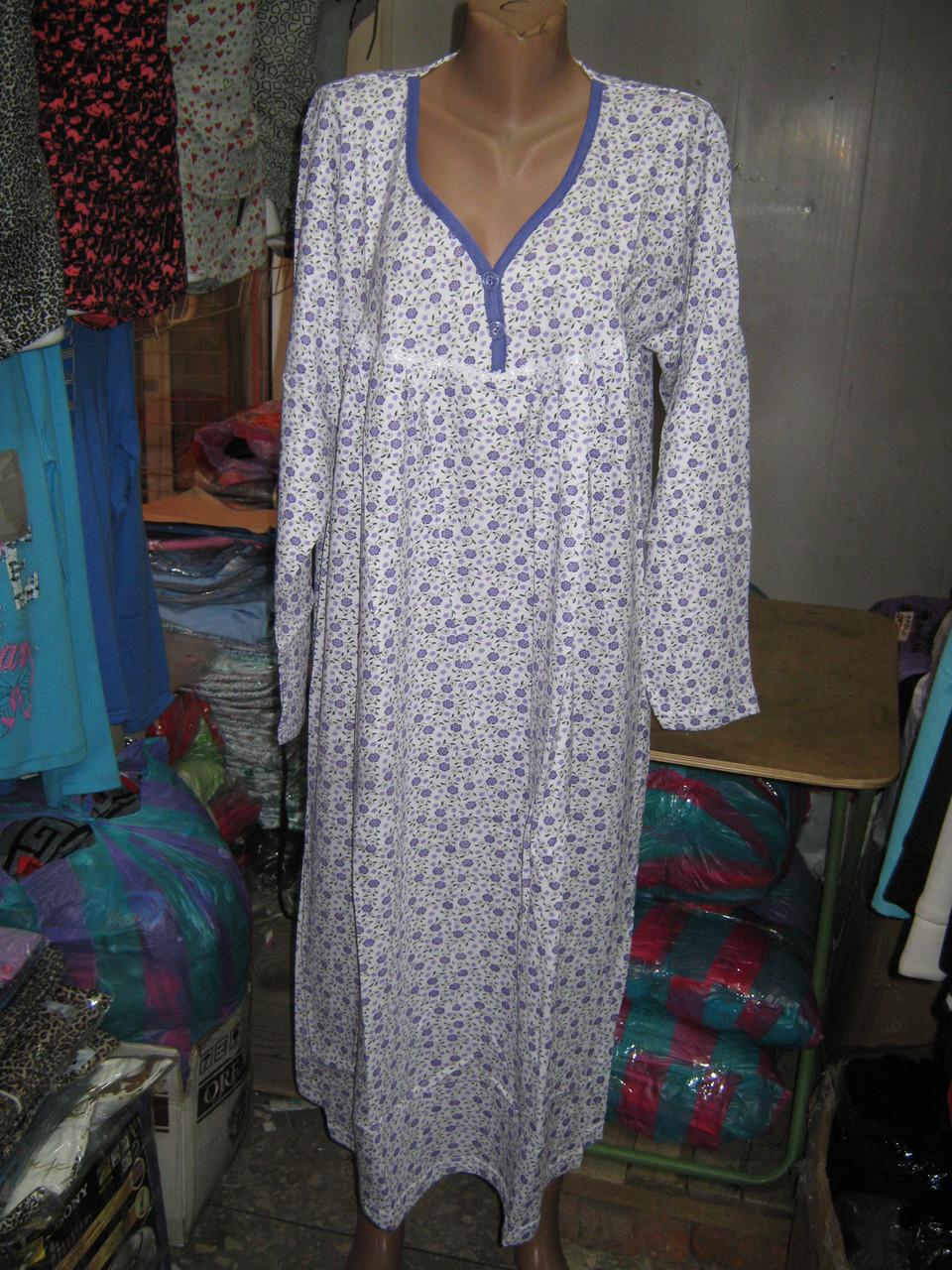 18397fa1b5c2d5e Ночные рубашки Батал Байка мелкий цветок - Модно...Красиво...Доступно