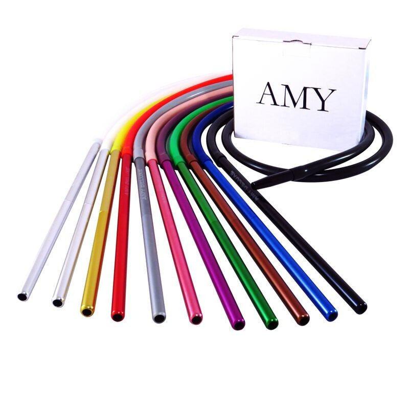 Силиконовый шланг AMY Deluxe Aluminium Long белый