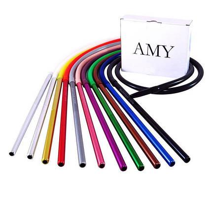 Силіконовий шланг AMY Deluxe Aluminium Long білий, фото 2