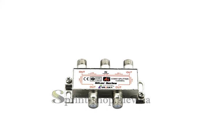 Делитель Split 4 way 5 - 2500МГц с проходом питания EUROSKY, фото 2