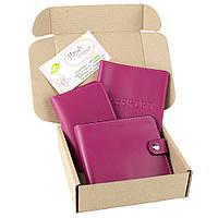 Подарочный набор №5 (6 цветов): обложка на паспорт + обложка на документы + портмоне П1, фото 1