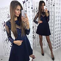 Красивое и модное женское платье с расклешенной юбкой
