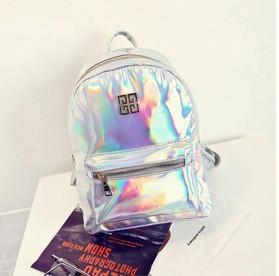 Женский рюкзак стильный цвета серебристый хамелеон купить по ... cd6898df1d4