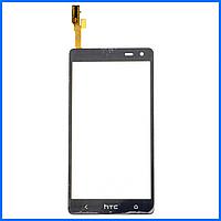 Тачскрин (сенсор) для HTC Desire 600, 606w Dual Sim, черный
