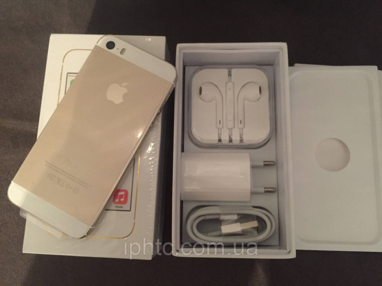 IPhone 5S 16GB GOLD 4G /Новый / NeverLock Запечатан