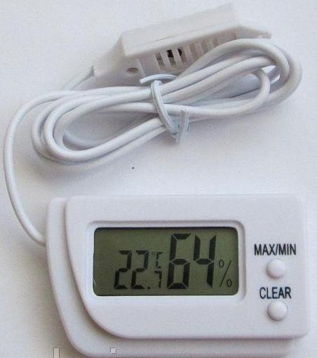Термометр цифровой с гигрометром и выносным датчиком