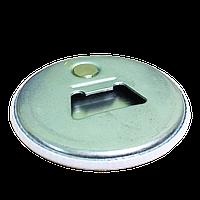 Магнит-открывалка на холодильник закатной круглый диаметром 56 мм